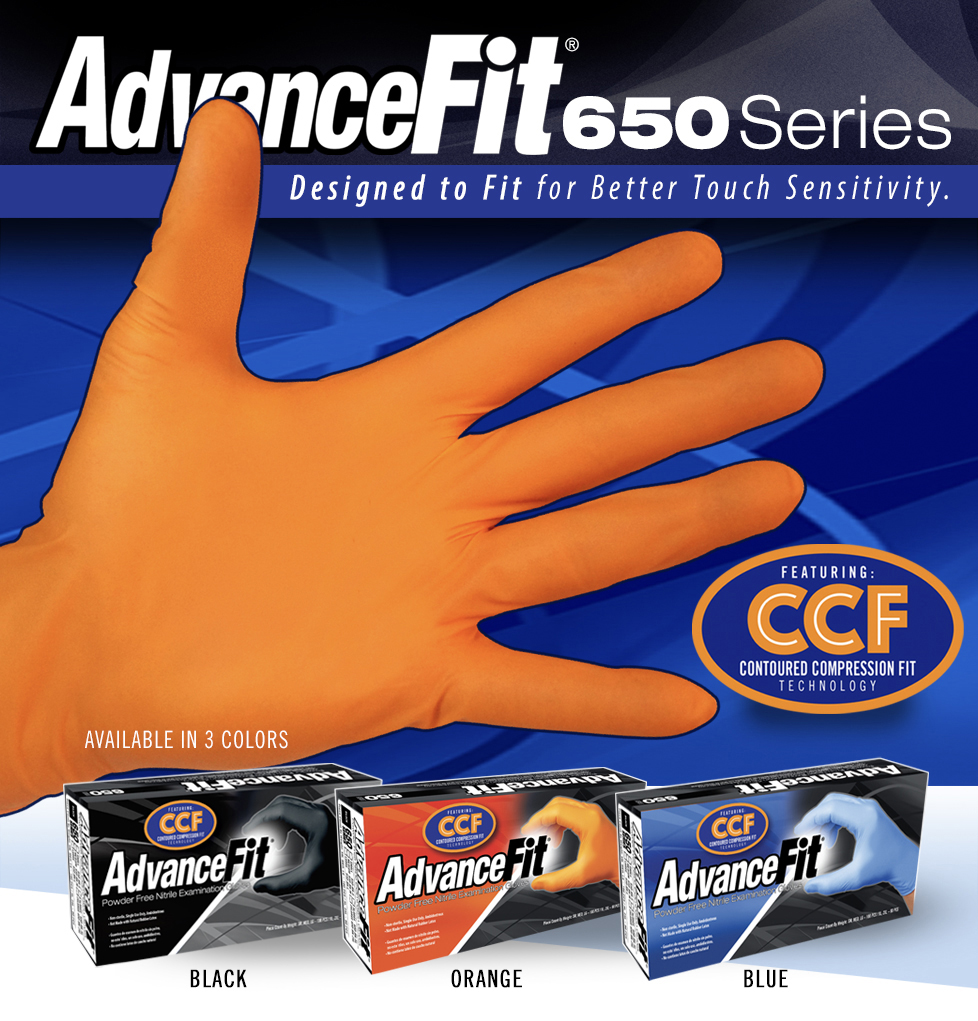 Orange Automotive Gloves - FEaturing CCF Technology
